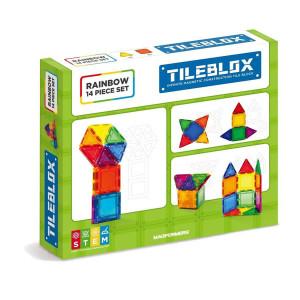 Magformer Tileblox-Rainbow 14 Set