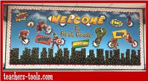 *Marvel Superheroes Cityscape Bulletin Board