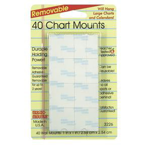 "40 Chart Mounts-1"" x 1"""