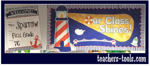 *Nautical Our Class Shines Bulletin Board