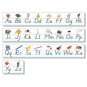 Modern Manuscript Photo Alphabet Line