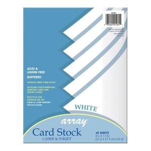 """White Card Stock-8 1/2"""" x 11"""""""