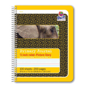 "1/2"" Ruled Picture Story Spiral Composition Book"