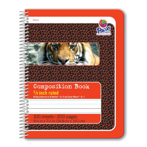 "5/8"" Ruled Spiral Composition Book"