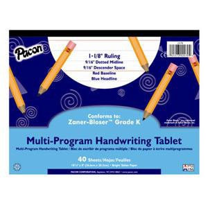 "Handwriting Paper Tablet- 1 1/8"" Ruling"