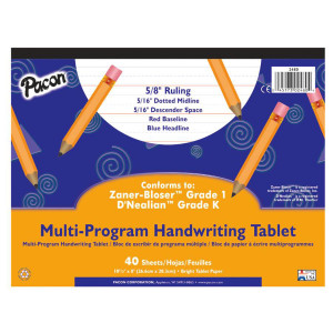 "Handwriting Paper Tablet- 5/8"" Ruling"