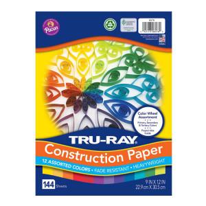 Color Wheel Construction Paper Assortment