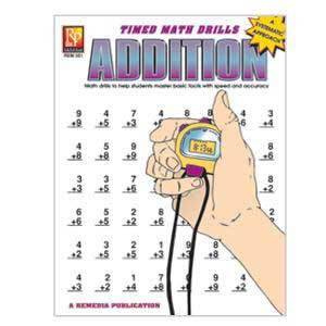 Addition Timed Math Drill Book