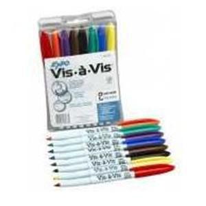 Vis-A-Vis Fine Tip Markers - 8 Pack