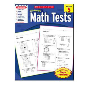 Scholastic Success with Math Tests Book Grade 5