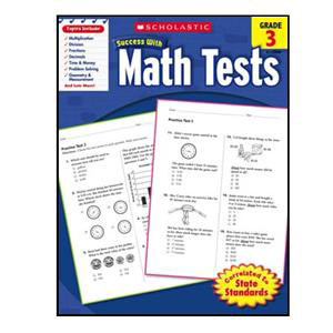 Scholastic Success with Math Tests Book Grade 3