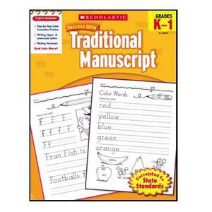 Scholastic Success with Trad. Manuscript Book K-1