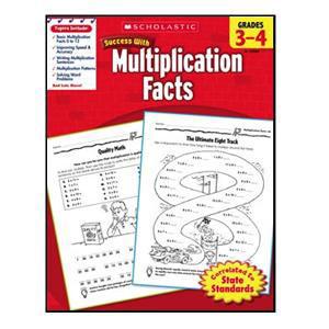 Scholastic Success Multiplication Book Grades 3-4