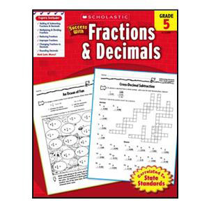 Scholastic Success with Fractions Book Grade 5