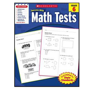 Scholastic Success with Math Tests Book Grade 6