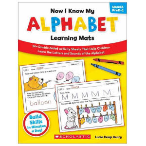 Now I Know My Alphabet Learning Mats Book
