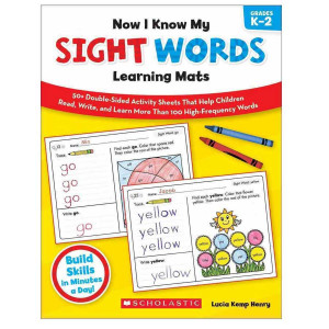 Now I Know My Sight Words Learning Mats Book