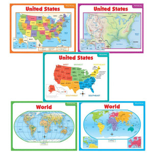 Teaching Maps Bulletin Board Set
