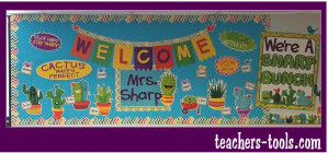 *Sharp Bunch Welcome Bulletin Board