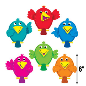 Busy Birds Assorted Cut-Outs