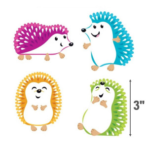 Colorful Hedgehogs Small Cut-Outs