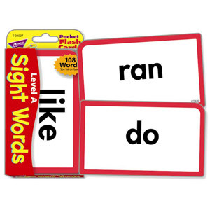 Level A Sight Words Flash Cards