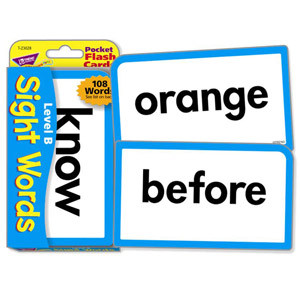 Level B Sight Words Flash Cards