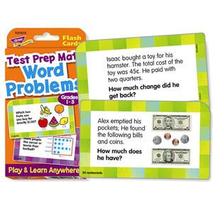 Test Prep Math Flash Cards Grades 1-3