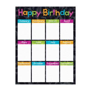 Color Harmony Birthday Poster