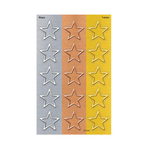 I Heart Metal Stars Stickers