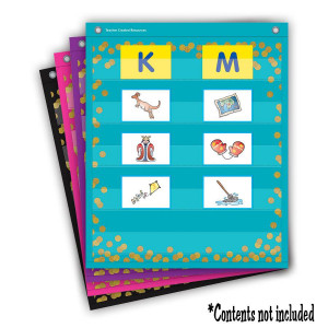 Confetti Colorful Magnetic Mini Pocket Charts