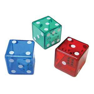 "1"" Dice within Dice: Set of 9 (Red, Blue & Green)"