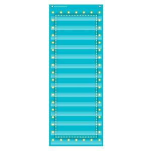 Marquee Light Blue 14 Pocket Pocket Chart