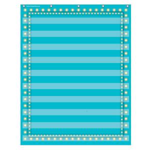 Marquee Light Blue Pocket Chart-10 Pockets