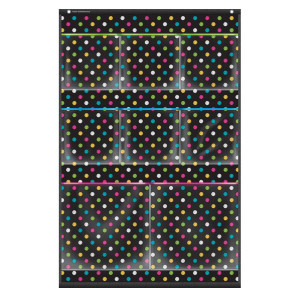 Chalkboard Brights 8 Pocket Small Pocket Chart