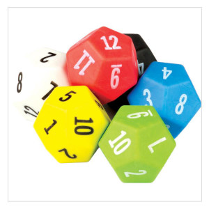 12 Sided Dice-6 Pack