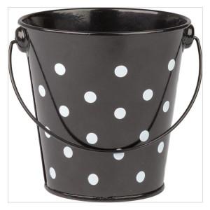 Black Polka Dots Bucket