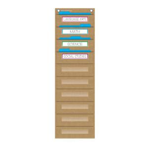 Burlap File Storage Pocket Chart