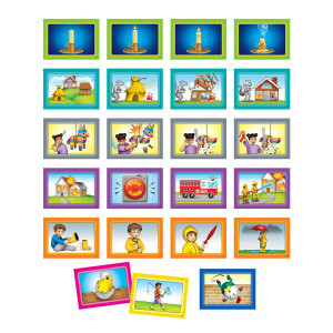 Sequencing 4-Scenes Pocket Chart Cards