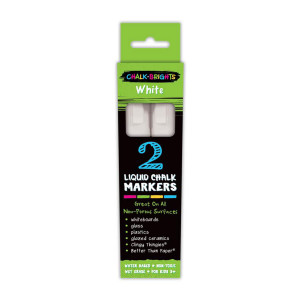 Chalk Brights White Liquid Chalk Markers-2 pack