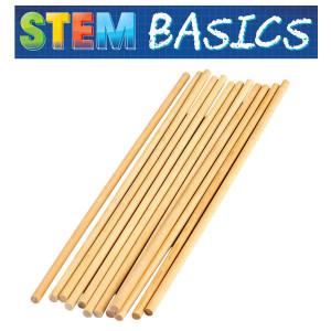 """STEM Basics: 1/4"""" Wood Dowels"""