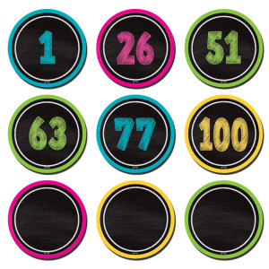 Chalkboard Brights Number Cards 0-100