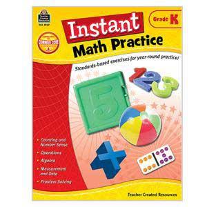 Instant Math Practice Book-Kindergarten