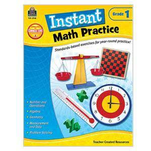 Instant Math Practice Book-Grade 1