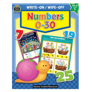 Numbers 0-30 Write-On/Wipe Off Book