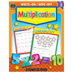 Multiplication Write-On/Wipe Off Book- 3