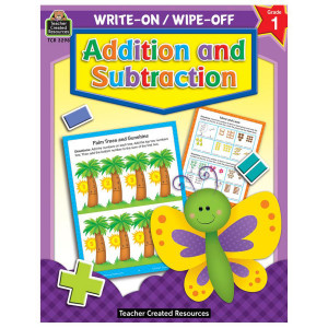 Addition & Subtraction Write-On/Wipe Off Book- K-1