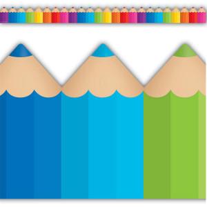 Colored Pencils Die-Cut Border