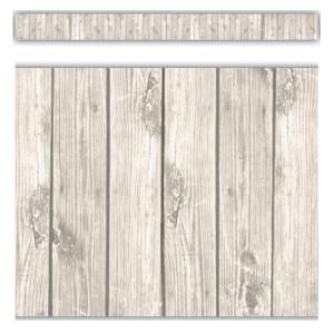 White Wood Straight Border