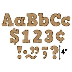 "Burlap Bold Block 4"" Letters"